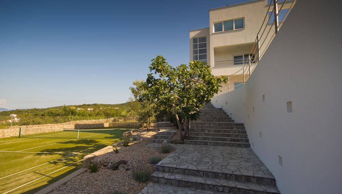 villa vrbnik garden